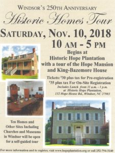 Historic Homes Tour Flyer